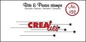 Bits & Pieces stempel/stamp no. 132, Hangende sterretjes/hanging stars