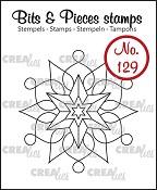 Bits & Pieces stempel/stamp no. 129, Sneeuwvlok A/Snowflake A