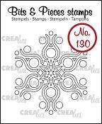 Bits & Pieces stempel/stamp no. 130, Sneeuwvlok B/Snowflake B