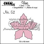 Uno stans/die no. 52, Bloem 23 / Flower 23