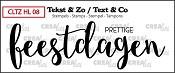 Tekst & Zo stempel, Handlettering no 8, Prettige feestdagen, dicht