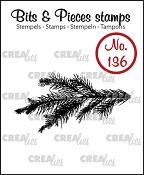 Bits & Pieces stempel/stamp no. 136, Dennentak / Pine branch