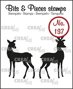 Bits & Pieces stempel/stamp no. 137, Hertjes / Rendeer