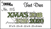 Text Die no. 115, XMAS 2018 2019 2020