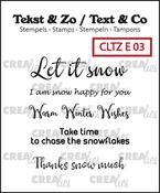 Tekst & Zo / Text & Co English stamps no. 3, Snow