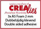 3x A5 foam 2 mm