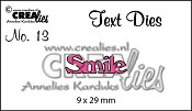 https://www.crealies.nl/detail/2092669/text-die-no-13-smile.htm