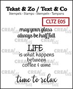 Tekst & Zo /Text & Co English stamps no. 5, Wine D