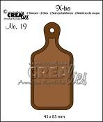 X-tra stansen/dies no. 19, Broodplank (klein) / Bread board (small)