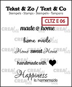 Tekst & Zo / Text & Co English stamps no. 6, Home