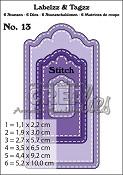 Labelzz & Tagzz stansen/dies no. 13, Met stiksteeklijn / With stitch line