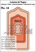 Labelzz & Tagzz stansen/dies no. 14, Met stiksteeklijn / With stitch line