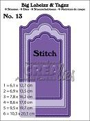 Big Labelzz & Tagzz stansen/dies no. 13, Met stiksteeklijn / With stitch line
