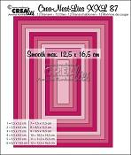 Crea-Nest-Lies XXL stansen/dies no. 87, Gladde rechthoeken halve cm/Smooth rectangles half cm