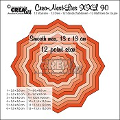 Crea-Nest-Lies XXL stansen/dies no. 90, Gladde 12 puntige ster / Smooth 12 point star