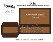 X-tra stansen/dies no. 26, Chocolade houder / Chocolate holder