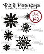 Bits & Pieces stempel/stamp no. 140, 6x Mini bloemen 17 / 6x Mini Flowers 17
