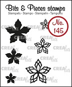 Bits & Pieces stempel/stamp no. 145, 6x Mini bloemen 23 / 6x Mini Flowers 23