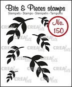 Bits & Pieces stempel/stamp no. 150, 6x Mini blaadjes 5 (dicht) / 6x Mini Leaves 5 (solid)