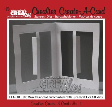 Crealies Create A Card stans no. 1 / Crealies Create A Card die no. 1
