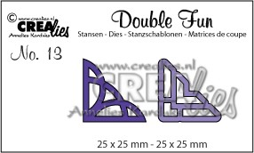 Double Fun stansen/dies no. 13, Hoekjes 1 / Corners 1