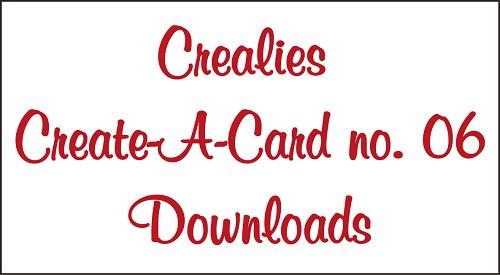Downloads Crealies Create A Card no. 06