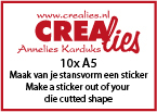 Maak van je stansvorm een sticker (10x A5 vel) / Make a sticker out of your die cutted shape (10x A5