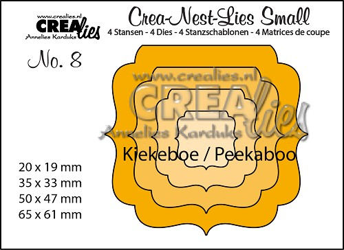 Crea-Nest-Lies Small stansen no. 8 Kiekeboe 4/ Crea-Nest-Lies Small dies no. 8 Peekaboo 4