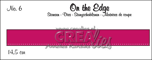 On the Edge stans/die no. 6, Met stiksteeklijn/With stitch line