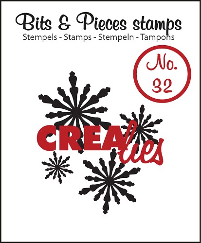 Bits & Pieces stempel/stamp no. 32, Snowflake 2