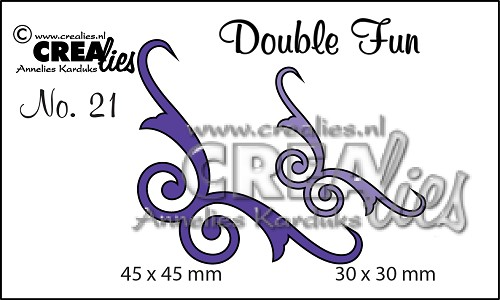 Double Fun stansen no. 21 Hoekjes 5 / Double Fun dies no. 21 Corners 5