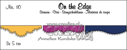 On the Edge stansen/dies no. 10, Mini 2, Met dubbele stiksteeklijn/With double stitch line