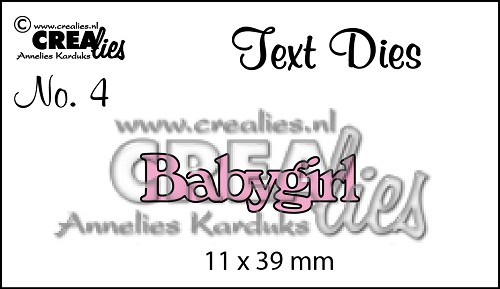 Text Die no. 4 Babygirl