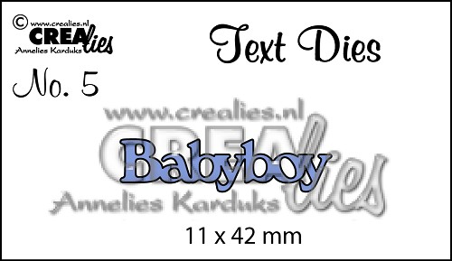 Text Die no. 5 Babyboy