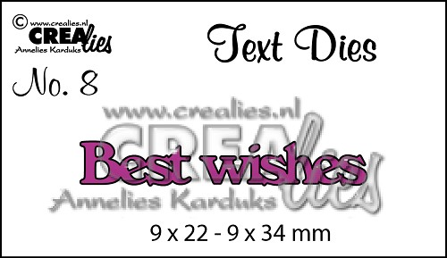 Text Die no. 08 Best wishes