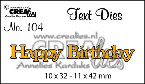 Text Die no. 104 Happy Birthday