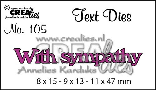 Text Die no. 105 With Sympathy