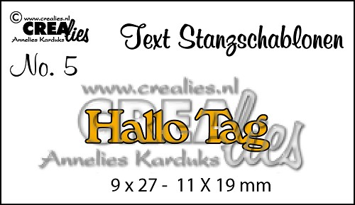 Text Stanzschablone no. 05 Hallo / Tag