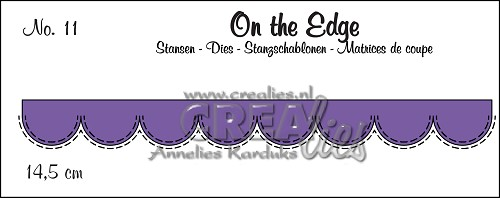 On the Edge stans/die no. 11, Met dubbele stiksteeklijn/With double stitch line