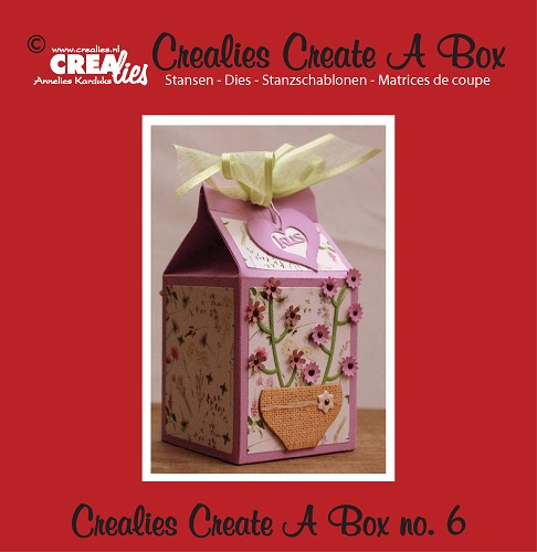 Crealies Create A Box stans no. 6 melkpak / Crealies Create A Box die no. 6 milk carton