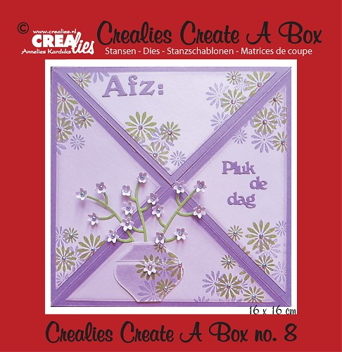 Crealies Create A Box stans/die no. 8, Verzenddoosje / Box for sending cards