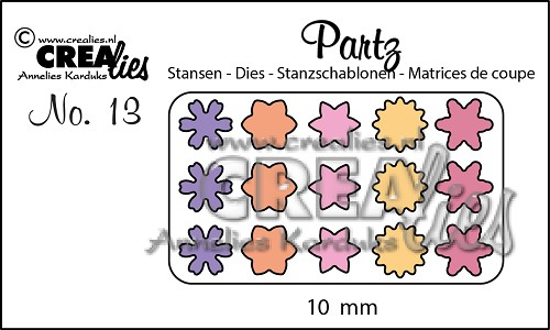 Partz stansen no. 13 Bloemetjes 10 mm / Partz dies no. 13 Flowers 10 mm