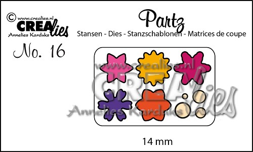 Partz stansen no. 16 Bloemetjes 14 mm / Partz dies no. 16 Flowers 14 mm