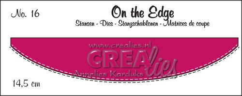 On the Edge stans/die no. 16, Met dubbele stiksteeklijn/With double stitch line