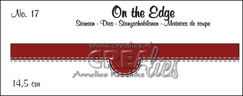 On the Edge stans/die no. 17, Met dubbele stiksteeklijn/With double stitch line