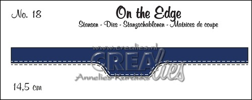 On the Edge stans/die no. 18, Met dubbele stiksteeklijn/With double stitch line