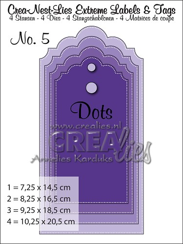 Crea-Nest-Lies Extreme Labels & Tags no. 5 with dots