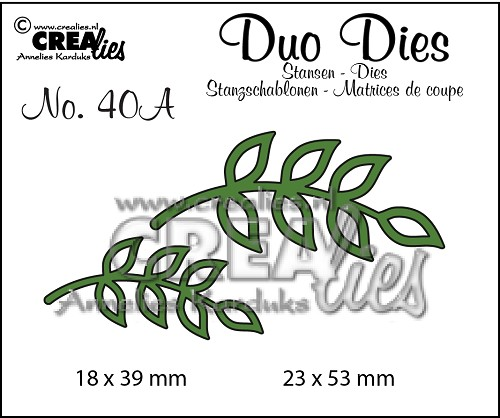 Duo Dies no. 40A Blaadjes 8 spiegelbeeldig / Leaves 8 mirror image