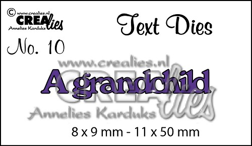 Text Die no. 10 A grandchild