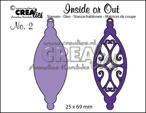 Inside or Out stansen/dies no. 2, Kerstbal B / Christmas ornament B